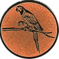 Emblem 50mm Papagei, bronze