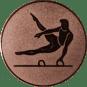 Emblem 25mm Pauschenpferd, bronze