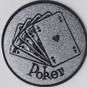 Emblem 25mm Poker, silber