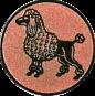 Emblem 25mm Pudel, bronze
