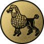 Emblem 25mm Pudel, gold