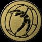 Emblem 25mm Rhönrad, gold