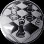 Emblem 25mm Schach, silber