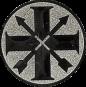 Emblem 25mm Schützenkreuz, silber schießen