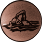 Emblem 25mm Schwimmer Freistil, bronze