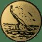 Emblem 25mm Schwimmer Rücken, gold