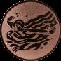Emblem 25mm Schwimmer Schmetterling, bronze