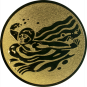 Emblem 25mm Schwimmer Schmetterling, gold