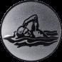 Emblem 25mm Schwimmer Freistil, silber