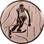Emblem 25mm Ski Alpin, bronze