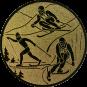 Emblem 25mm Ski, gold