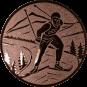 Emblem 25mm Ski Langlauf, bronze