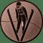 Emblem 25mm Skispringer, bronze