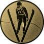 Emblem 25mm Skispringer, gold