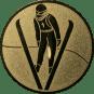 Emblem 25mm Skispringer, gold