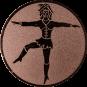 Emblem 25mm Tanzmariechen, bronze