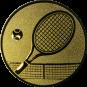 Emblem 25mm Tennisschläger, gold