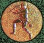 Emblem 25mm Tennisspieler, bronze 3D