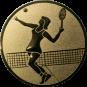 Emblem 25mm Tennisspielerin, gold