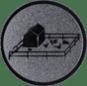 Emblem 25mm Tiergehege, silber