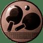 Emblem 25mm Tischtennisschläger, bronze