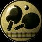 Emblem 25mm Tischtennisschläger, gold