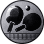 Emblem 25mm Tischtennisschläger, silber