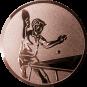 Emblem 25mm Tischtennisspieler, bronze