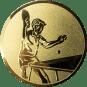 Emblem 25mm Tischtennisspieler, gold