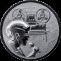 Emblem 25mm Tonaufnahme, silber