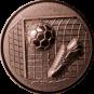 Emblem 25mm Tor, Fußball, Schuh, 3D, bronze