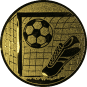 Emblem 25mm Tor, Fußball, Schuh, gold