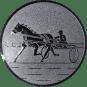 Emblem 25mm Traber, silber