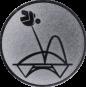 Emblem 25mm Trampolin, silber