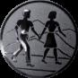 Emblem 25mm Wanderer Paar, silber