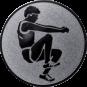 Emblem 25mm Weitspringer, silber