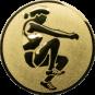 Emblem 25mm Weitspringerin, gold