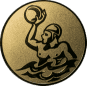 Emblem 25mm Schwimmer Freistil, gold