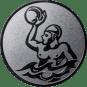 Emblem 25mm Werfer Wasserball, silber