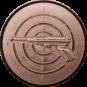 Emblem 25mm Zeilsch. Pistole 3D, bronze schießen
