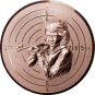 Emblem 25mm Zeilsch. Schütze Gewehr 3D, bronze schießen
