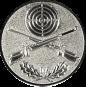 Emblem 25mm Zielsch. mit Gewehren u. Eichenlaub, silber schießen