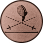 Emblem 50 mm 2 Florette Und Maske, bronze