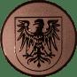 Emblem 50 mm Adlerwappen, bronze