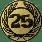 Emblem 50 mm Ehrenkranz mit 25, gold