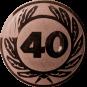 Emblem 50 mm Ehrenkranz mit 40, bronze