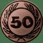 Emblem 50 mm Ehrenkranz mit 50, bronze