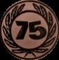 Emblem 50 mm Ehrenkranz mit 75, bronze