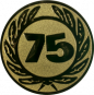 Emblem 50 mm Ehrenkranz mit 75, gold