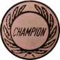 Emblem 50 mm Kranz CHAMPION, bronze
